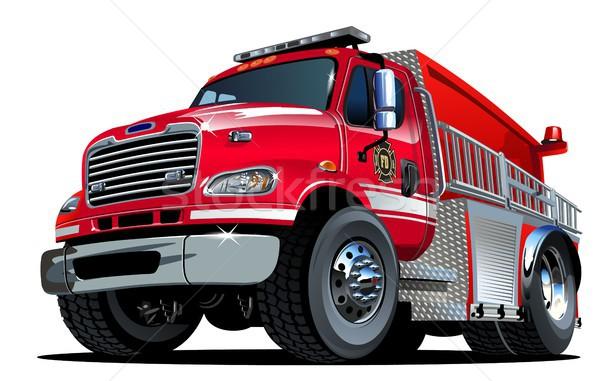 Vector Cartoon Fire Truck Stock photo © mechanik