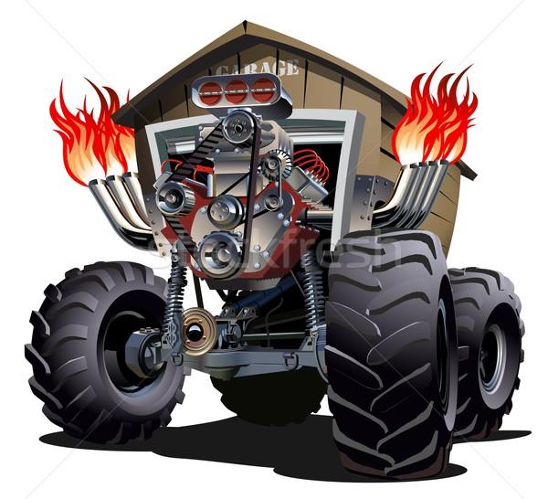 Cartoon monster vrachtwagen eps10 groepen gemakkelijk Stockfoto © mechanik