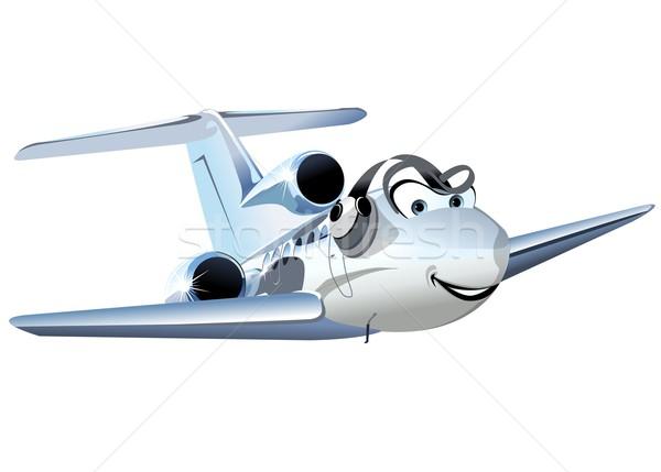 Vector cartoon burgerlijk utility vliegtuig eps10 Stockfoto © mechanik