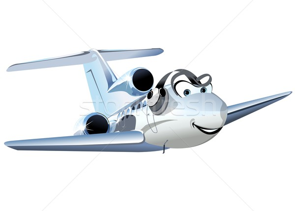 Vetor desenho animado civil utilidade avião eps10 Foto stock © mechanik