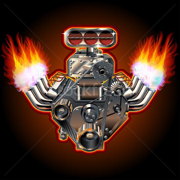 Vector Cartoon Turbo Engine Stock photo © mechanik