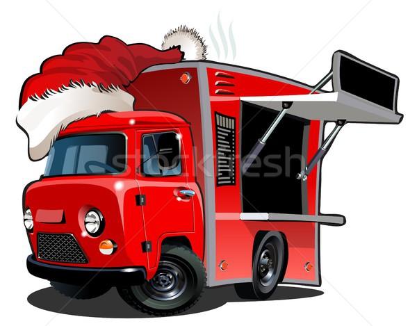 Cartoon food truck Stock photo © mechanik