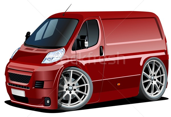Vector cartoon delivery van Stock photo © mechanik