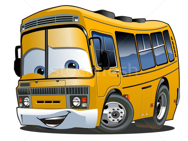 Cartoon schoolbus geïsoleerd witte eps10 vector Stockfoto © mechanik