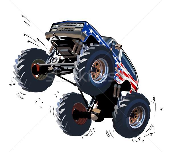 Cartoon monster vrachtwagen eps10 groepen lagen Stockfoto © mechanik
