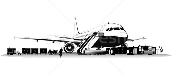 Vector passenger airliner Stock photo © mechanik