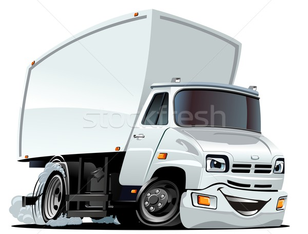 Vector cartoon vracht vrachtwagen eps10 formaat Stockfoto © mechanik
