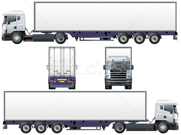 Vector levering vracht vrachtwagen eps8 auto Stockfoto © mechanik