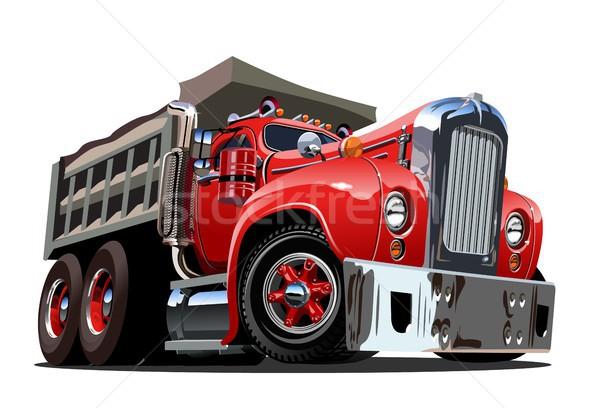 Stockfoto: Vector · cartoon · retro · vrachtwagen · eps10 · formaat