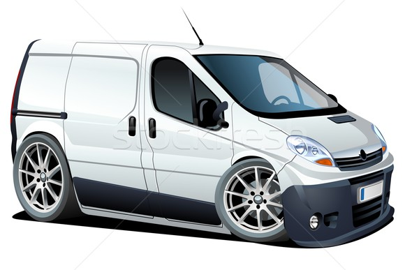 Vector cartoon delivery / cargo van Stock photo © mechanik