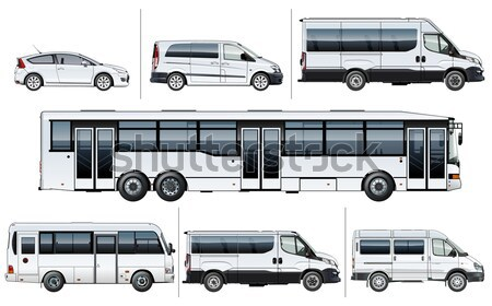 Photo stock: Vecteur · bus · eps8 · Voyage · graphique · transport