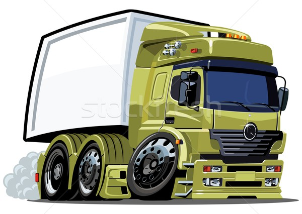 Vecteur cartoon fret camion eps8 route Photo stock © mechanik