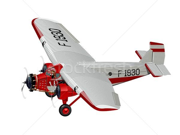 Cartoon rétro avion vecteur avion eps10 Photo stock © mechanik