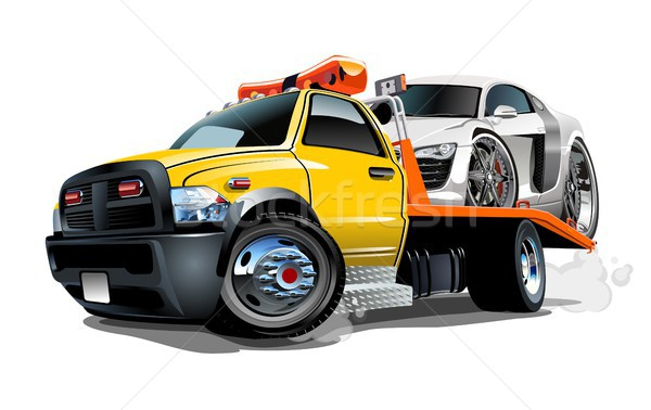 Cartoon tow truck Stock photo © mechanik