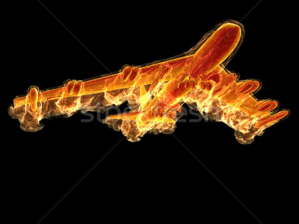 Flame bomber Stock photo © mechanik