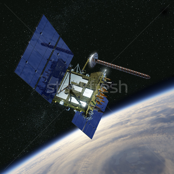 現代 ナビゲーション 衛星 雲 地球 スペース ストックフォト © mechanik