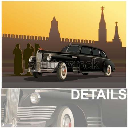 Vector vintage limousine Stock photo © mechanik