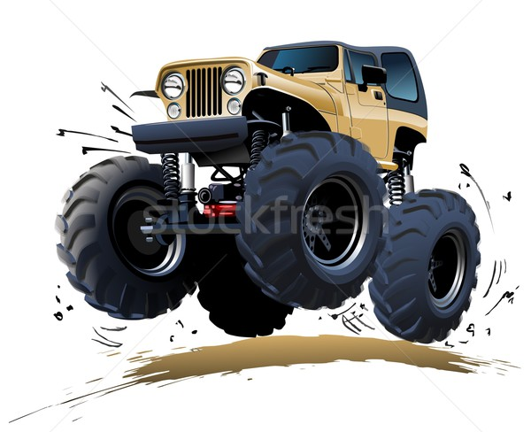 Cartoon Monster Truck vector illustration © mechanik (#2950206 ...