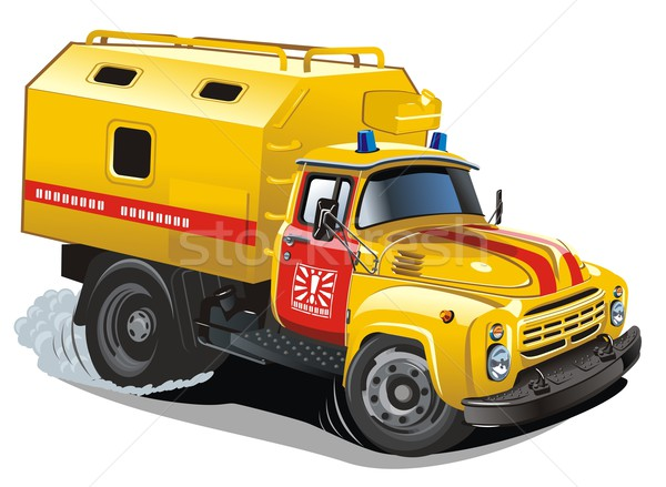 Photo stock: Vecteur · cartoon · réparation · Ouvrir · la · camion · eps8