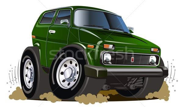 ベクトル 漫画 ジープ eps8 グループ 簡単 ストックフォト © mechanik