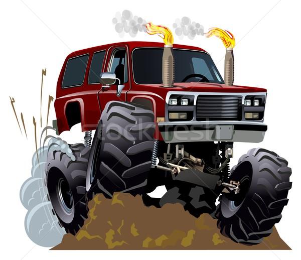 Cartoon monster vrachtwagen eps10 vector formaat Stockfoto © mechanik
