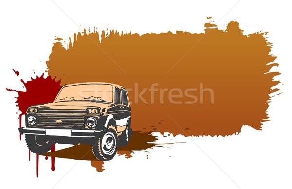 Veículo projeto esportes quadro arte assinar Foto stock © mechanik