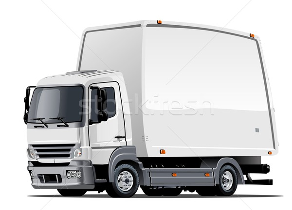 Stock photo: Cartoon delivery or cargo truck
