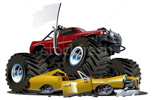 Vector cartoon monster vrachtwagen eps10 formaat Stockfoto © mechanik