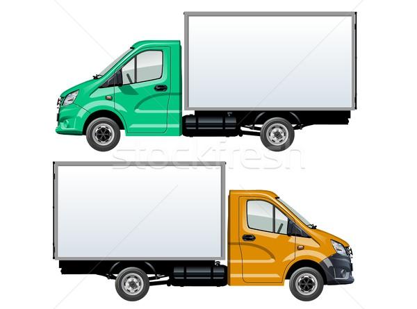 Vector truck template isolated on white Stock photo © mechanik
