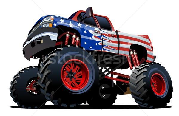 Karikatür canavar kamyon eps10 gruplar Stok fotoğraf © mechanik