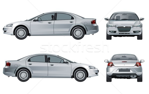 Vector car mockup isolated on white Stock photo © mechanik