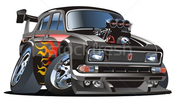 Vector retro cartoon hotrod Stock photo © mechanik