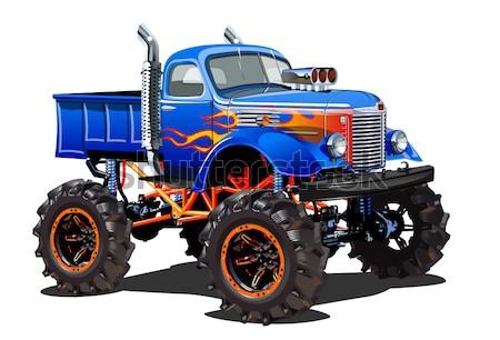 Monster vrachtwagen eps10 groepen lagen doorzichtigheid Stockfoto © mechanik