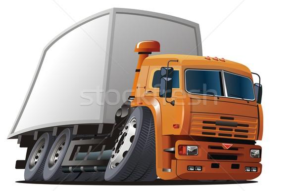 Stockfoto: Vector · cartoon · vracht · vrachtwagen · eps8 · groepen