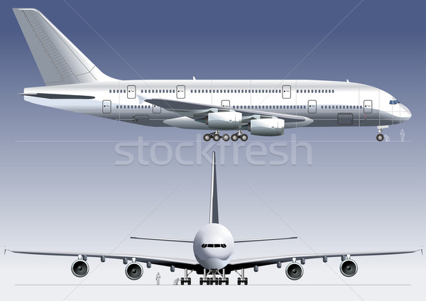 Double-deck Lagest Jetliner Stock photo © mechanik