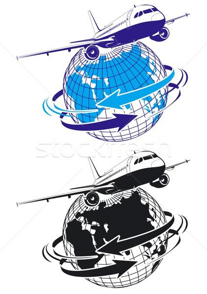 Vector airliner as a logo Stock photo © mechanik