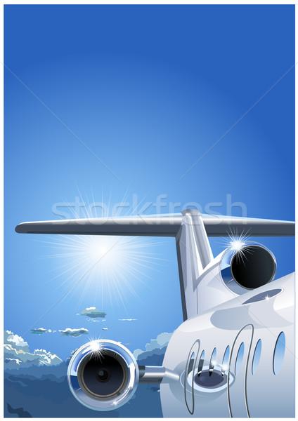 airplane in the Sky Stock photo © mechanik