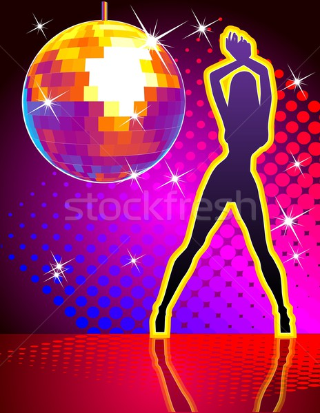 background disco pary Stock photo © mechanik