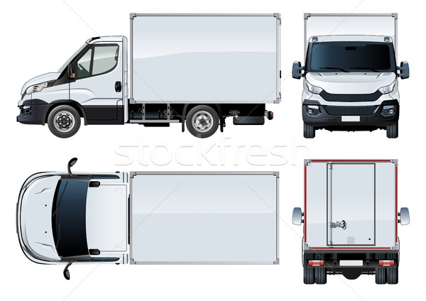 Stock photo: Vector truck template isolated on white