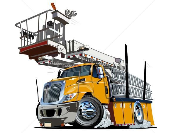 Cartoon plate-forme ascenseur camion vecteur eps10 Photo stock © mechanik
