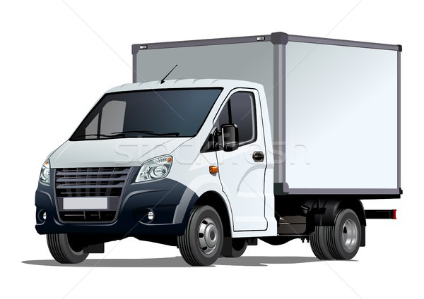 ストックフォト: ベクトル · トラック · テンプレート · 孤立した · 白 · eps10