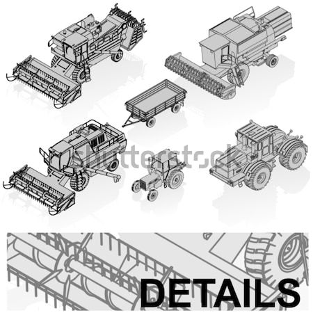 vector agricultural vehicles set Stock photo © mechanik