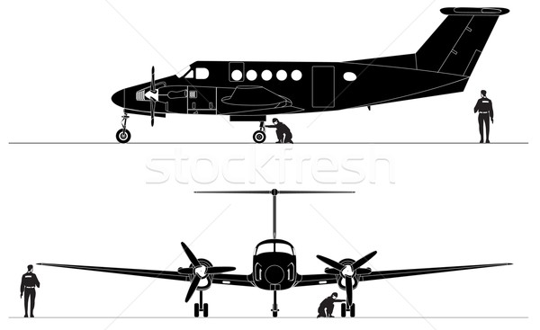 Civil utility aircraft Stock photo © mechanik