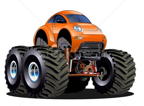 desenho animado monstro caminhão vetor eps10 formato