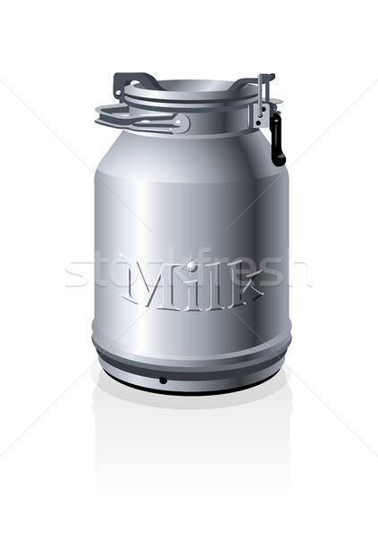 Vector milk can Stock photo © mechanik