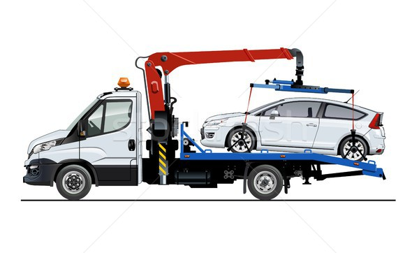Vector tow truck template isolated on white Stock photo © mechanik