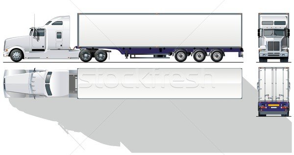 Vector hi-detailed commercial semi-truck Stock photo © mechanik