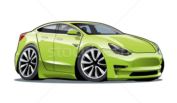 Cartoon electric car Stock photo © mechanik