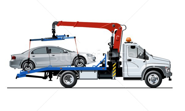 Stock photo: Vector tow truck template isolated on white
