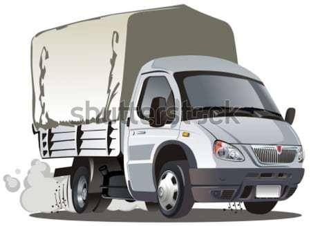 Stock photo: Vector delivery / cargo van infographics cutaway